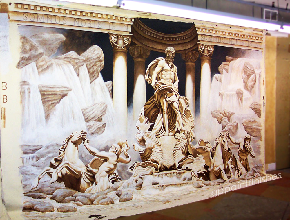 Trevi Fountain on Canvas