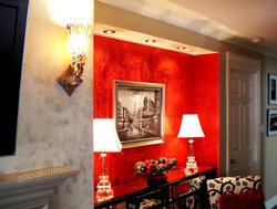 Paint, Plaster & Metallic Foil Wall