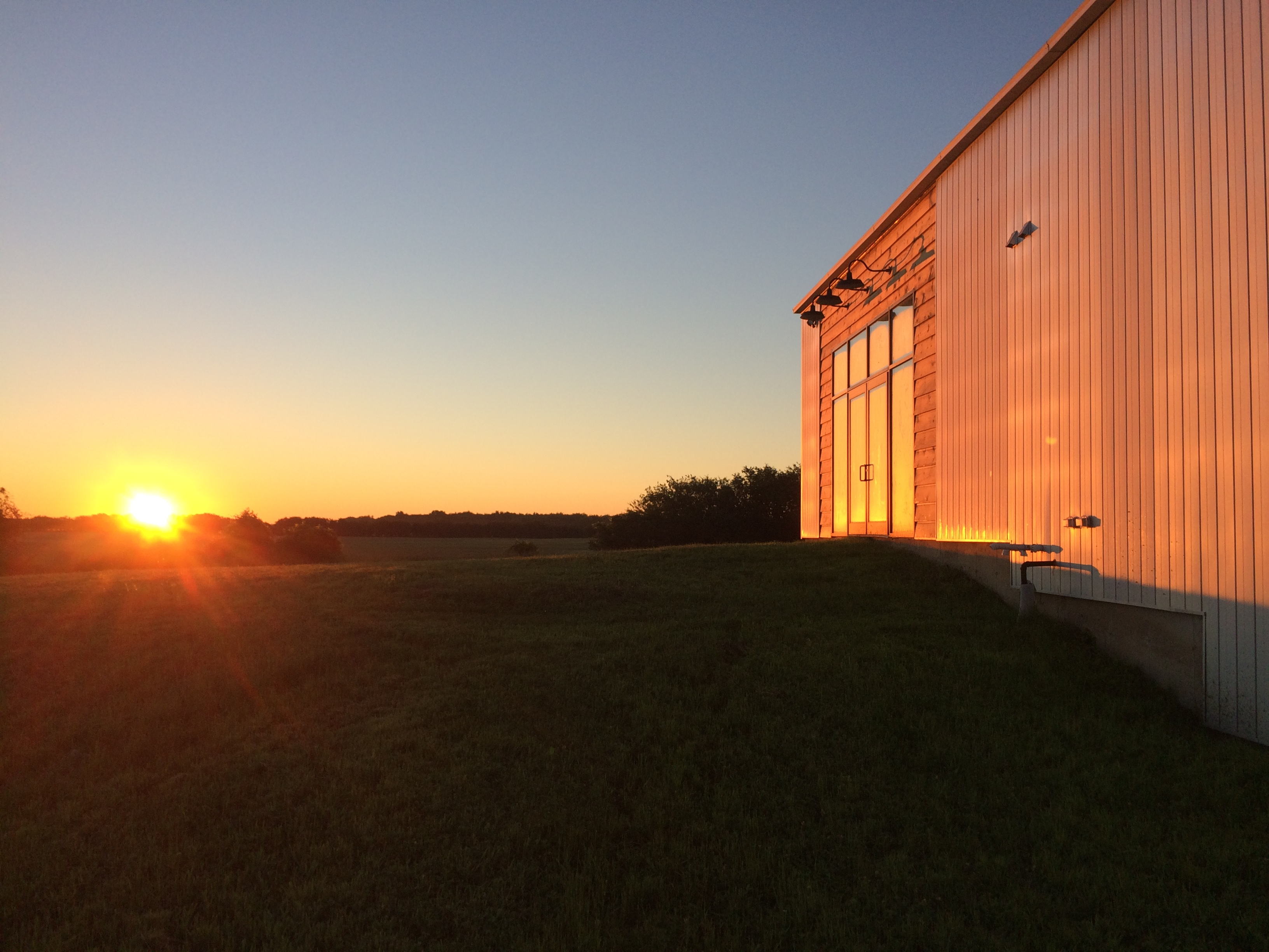 Prince Edward County cidery with sunset