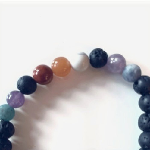All Vibes Covered- Lava Bead Aromatherapy Bracelets