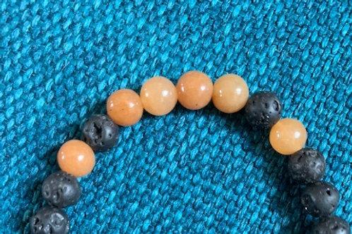 Aventurine Lava Bead Aromatherapy Bracelet