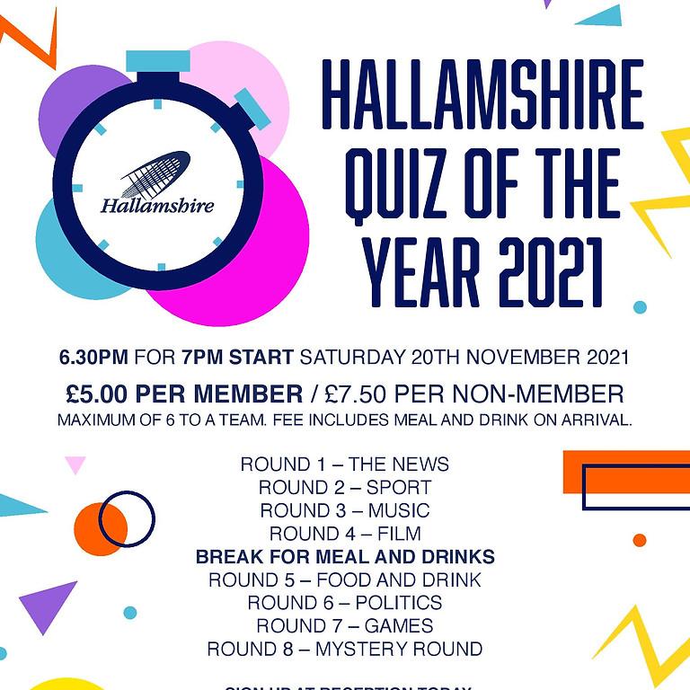 Hallamshire Quiz of the Year 2021