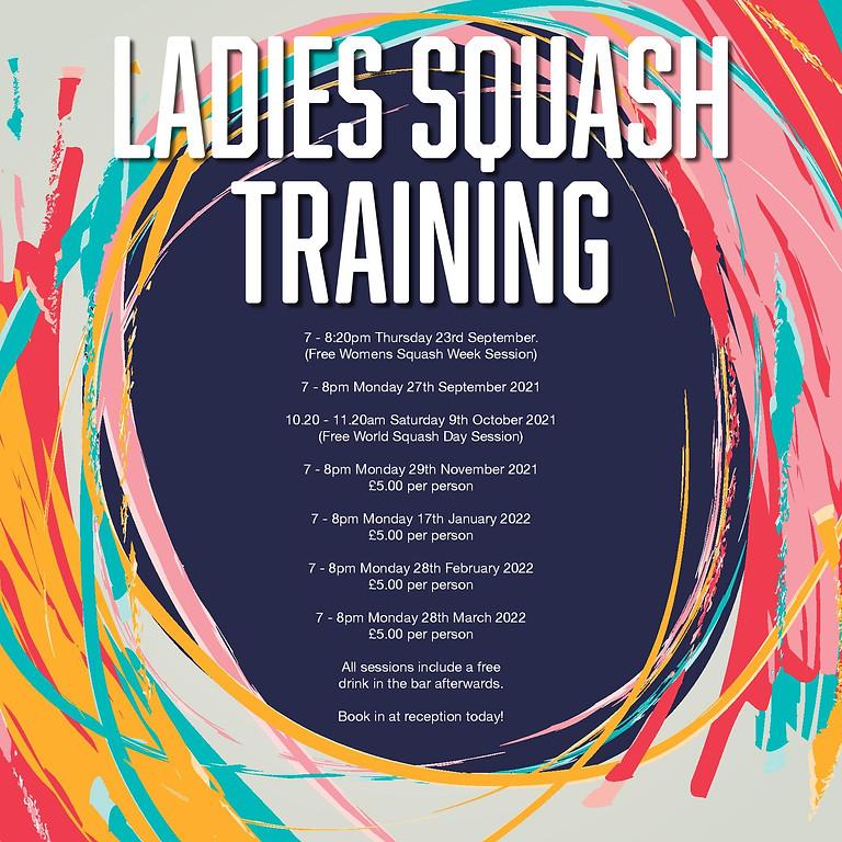 Ladies Squash Training 2021/22
