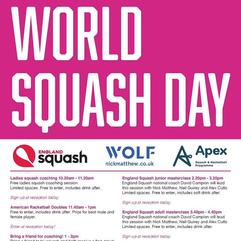 Saturday 9th October - World Squash Day 2021