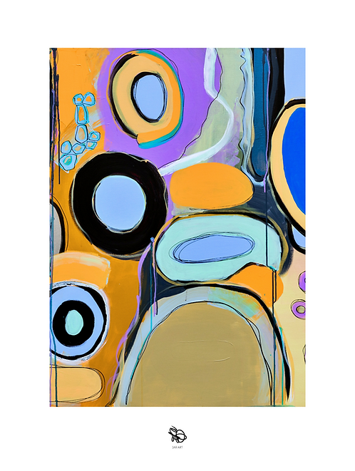 """Limited edition """"Underwater color"""" painting print / Hand signed"""