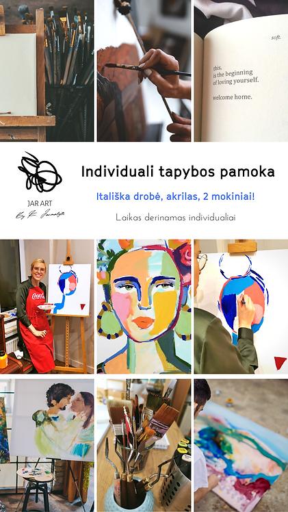 Individuali paveikslo tapybos pamoka