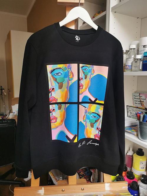 "Black sweatshirt ""Modern Human """