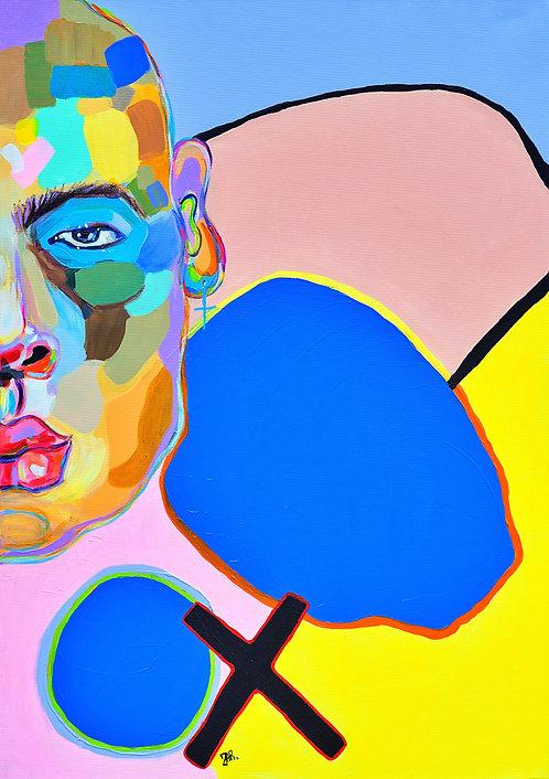"Painting ""Postmodern Human"" 2020"