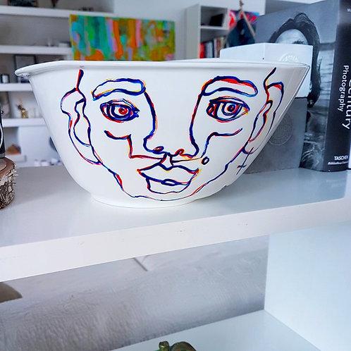 "Porcelain ""Salad prodigy"""