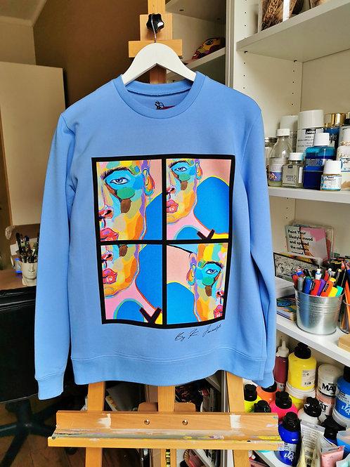 "Blue sky sweatshirt ""Modern Human """