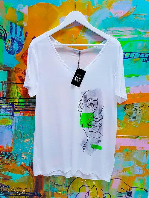 """""""RGB Cyborg"""" hand painted T-Shirts"""