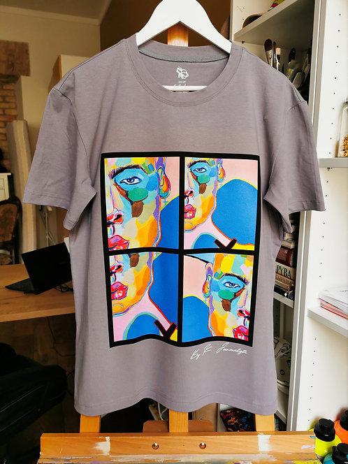 "Grey T-Shirt  ""Modern Human """