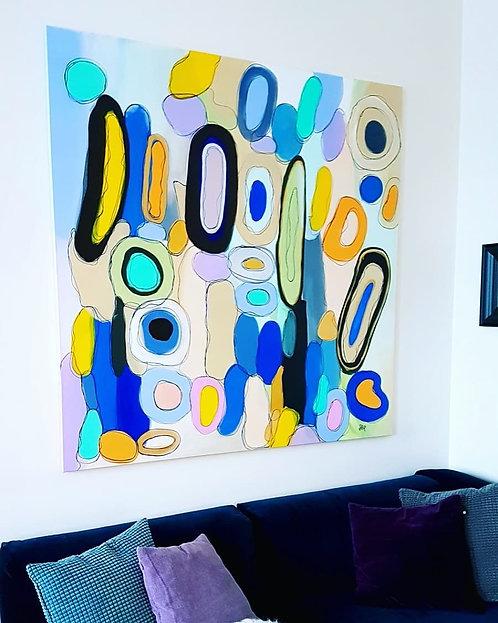 "Original abstract painting ""Movement"" 2018"