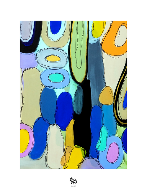 """""""Movement"""" painting print / Hand signed"""