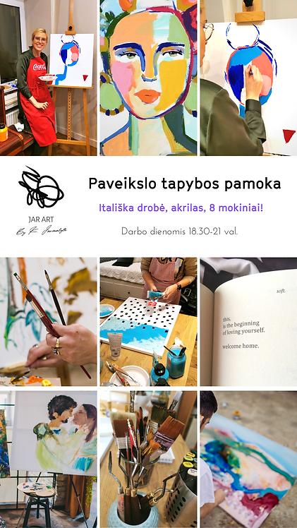 GRUPINĖ PAVEIKSLO TAPYBOS PAMOKA