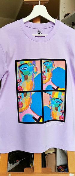 """Lilac T-Shirt  """"Modern Human """""""