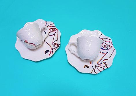 """Porcelain set """"Espresso Prodigy"""""""