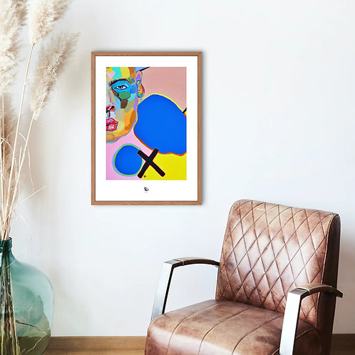 """Postmodern Human"" painting print/ Hand signed"