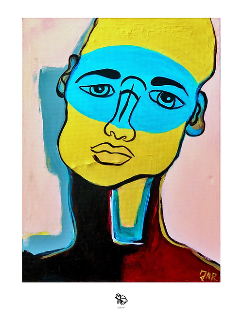 """""""Golden Patrician"""" painting print / Hand signed"""