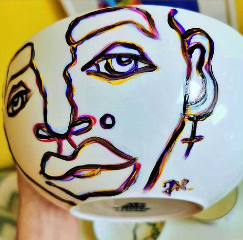 "Hand painted porcelain set ""Salad Prodigy"" / two bowls"