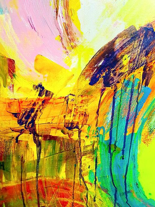 "Painting ""Lemon supernova"" 2016"