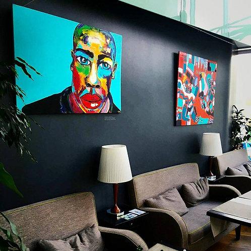 """Painting """"Black Rainbow"""" 2014"""
