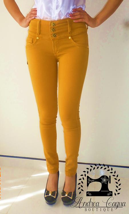 Pantalon Ocre Studio F Original Andreacaguaboutique