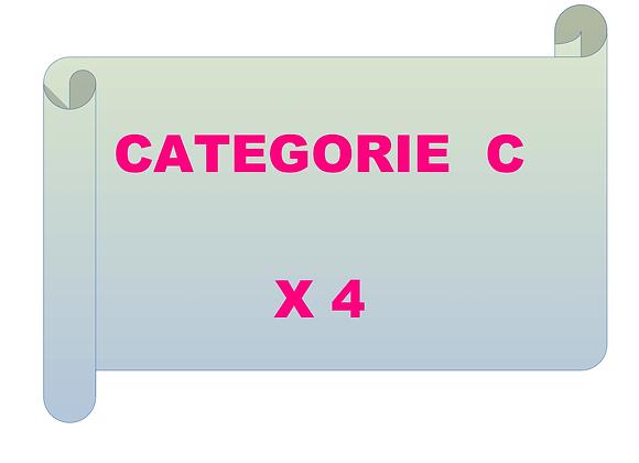 4 entraînements de catégorie C