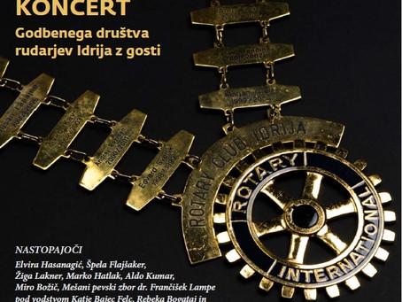 Dobrodelni koncert ob 20-letnici Rotary klub Idrija