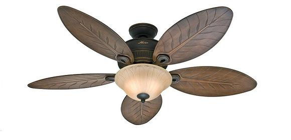 Ventilador y Abanico de techo Hunter Fan para Exterior modelo Grand Cayman