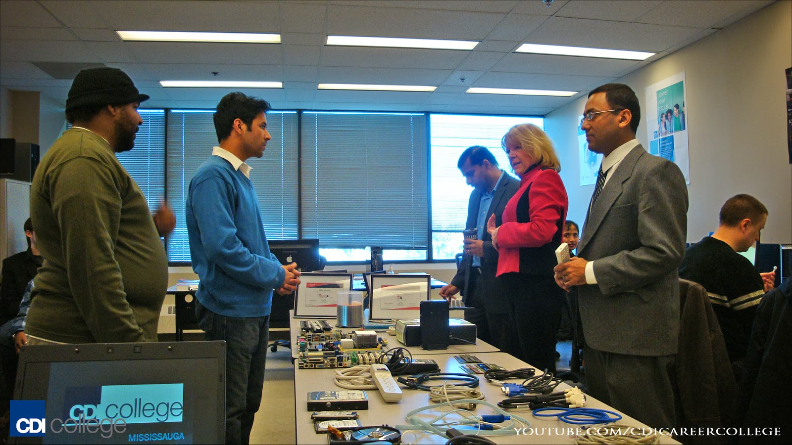 CompTIA-International-Director-Visits-CDI-College-Mississauga-Campus-Equipment-on-Display