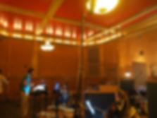 Gravação de uma trilha de ação para o curso da UCLA no The Village studios - Los Angeles, Califórnia