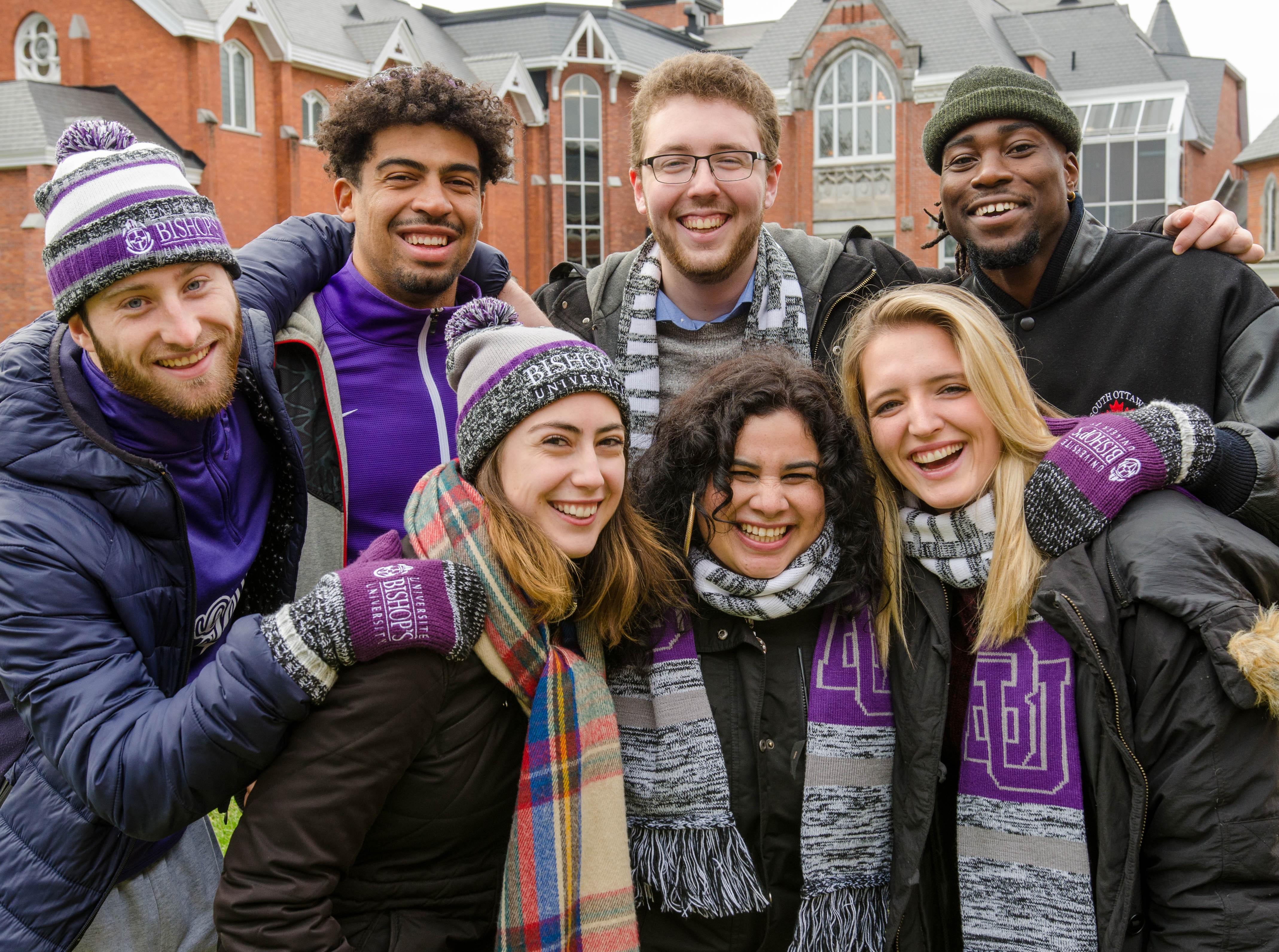 BU WinterStudents Quad 2017