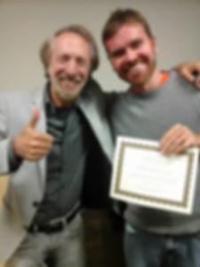 """Após concluir o curso """"Bring the power to the music"""" ministrado por Charles Bernstein na UCLA"""