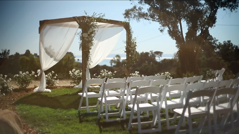 A shot of a wedding ceremony setup