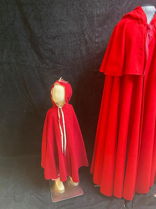 Child gently used wool cape.