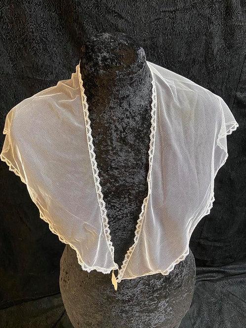 Fichu, faux silk net.
