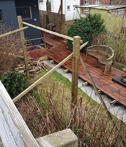 Etablering af træterrasse i byhave, Tømrermester Kent Haysen, Tømrer i Kolding.