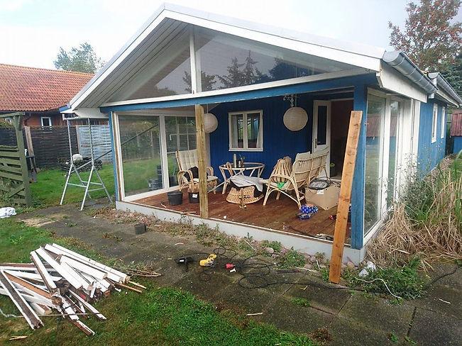 Udskiftning af døre og vinduer i sommerhus, Tømrermester Kent Haysen, Tømrer i Kolding.
