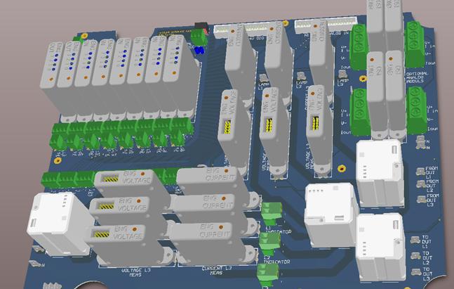 Háromfázisú hálózati készülék fogyasztás (áram-, és feszültség) monitorozó mérőberendezés