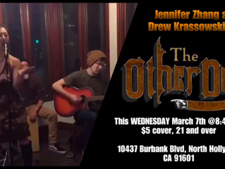 Jennifer Zhang & Drew Krassowski LIVE at the Other Door Bar in North Hollywood