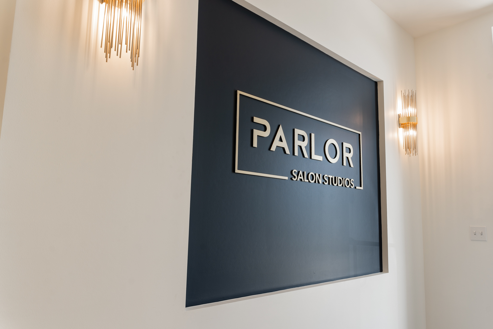 Parlor Entrance Logo Wall