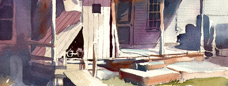 """Original Watercolor Demo """"Gilmer Road House"""""""