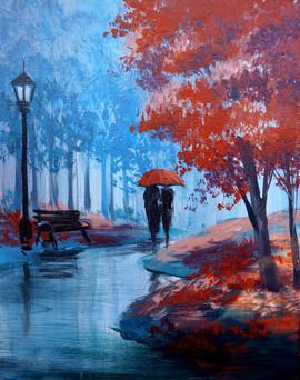 17 reb umbrella red trees