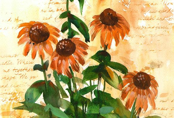 "Original Watercolor Demo ""Flowering Words"""