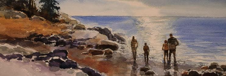 """Original Watercolor Demo """"Brighton Beach and Lester River Bridge"""""""