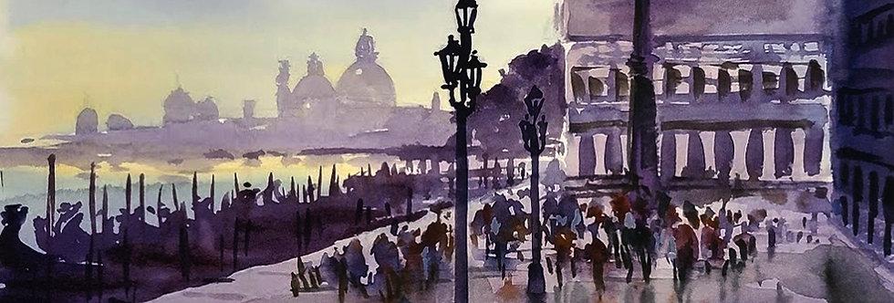 """Original Watercolor Demo """"Venice Italy"""""""