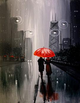 33 small red umbrella