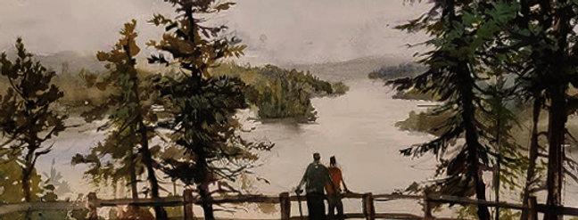 "Original Watercolor Demo ""Honeymoon Bluff, MN"""