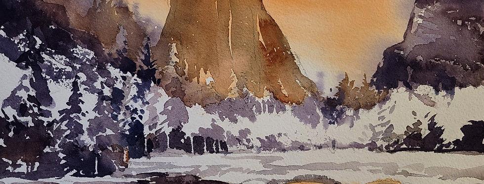 """Original Watercolor Demo """"Yosemite"""""""